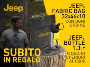 Jeep® Outfitter: nuovi regali per i Jeepers!