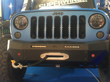 "Rock's 4×4: paraurti ant. in acciaio ""FIGHTER"" con porta verricello"